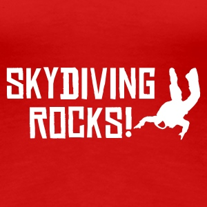 Rot skydiving rocks 2 T-Shirts - Frauen Premium T-Shirt