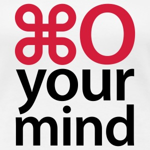 Weiß Open your mind © T-Shirts - Frauen Premium T-Shirt