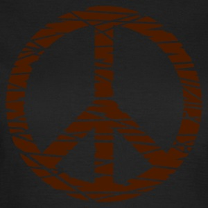 Oliven fred / peace (grunge, 1c) T-shirts - Dame-T-shirt