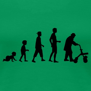 Grasgrün evolution_life_man T-Shirts - Frauen Premium T-Shirt