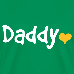 Daddy with Heart - Premium T-skjorte for menn
