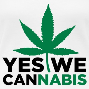 Wit Yes we Cannabis 3 (2c) T-shirts - Vrouwen Premium T-shirt