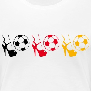 Weiß Kick it like Vicky! T-Shirts - Frauen Premium T-Shirt