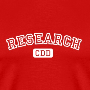 Rouge burgundy Research CDD blanc T-shirts - T-shirt Premium Homme