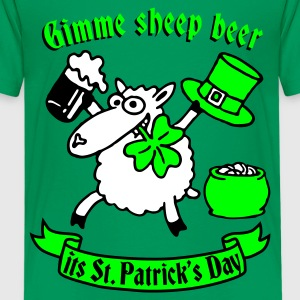 st_patricks_sheep Camisetas - Camiseta premium adolescente
