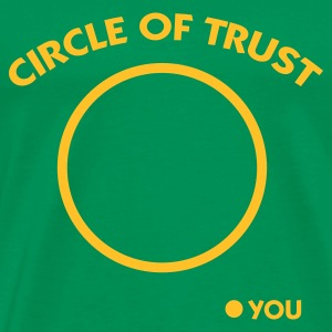 Flaskegrøn Circle of Trust (1c) T-shirts - Herre premium T-shirt