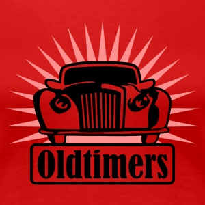 Red oldtimers_a_2c Women's T-Shirts - Women's Premium T-Shirt