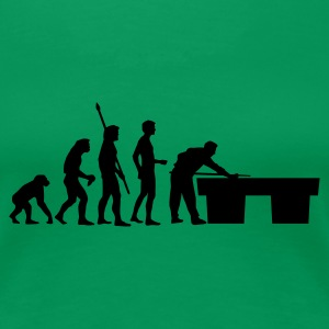 Grasgrün evolution_billard T-Shirts - Frauen Premium T-Shirt
