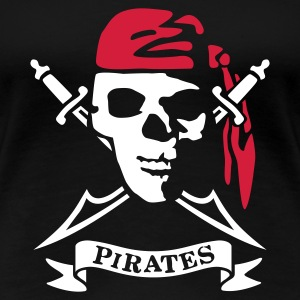 Black pirates_2_2c Women's T-Shirts - Women's Premium T-Shirt