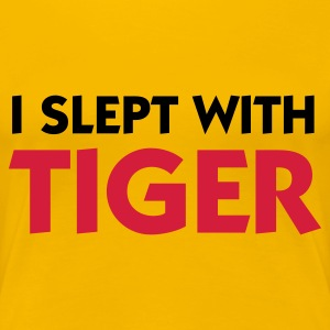 Light pink I Slept with Tiger (2c) Women's T-Shirts - Women's Premium T-Shirt