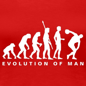 Rot evolution_diskuswerfen_b T-Shirts - Frauen Premium T-Shirt