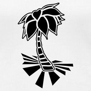 White Palm tree on the beach Women's T-Shirts - Women's Premium T-Shirt