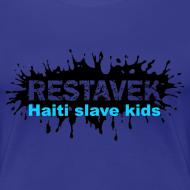 Motiv ~ Frau T-Shirt Restavek Splash 03blau © by kally ART®