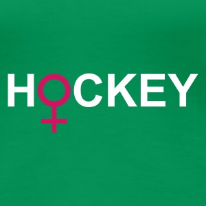 Grasgrün hockey T-Shirts - Frauen Premium T-Shirt