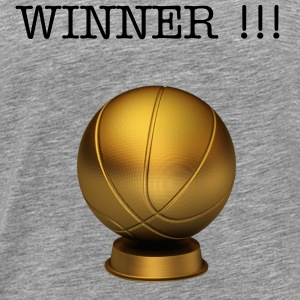 Cendre Basketball Trophy T-shirts - T-shirt Premium Homme