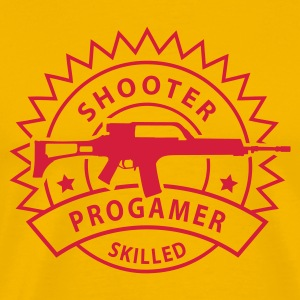 Gul shooter_skilled_1 T-skjorter - Premium T-skjorte for menn