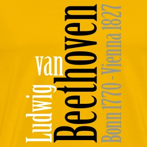 Beethoven Typo (18 colors available) - Mannen Premium T-shirt