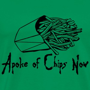 Kelly green A Poke of Chips Now Men's T-Shirts - Men's Premium T-Shirt
