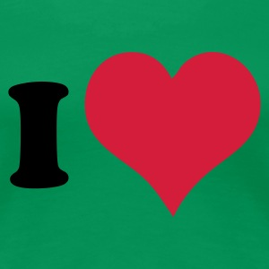 Grass green I Heart Women's T-Shirts - Premium T-skjorte for kvinner
