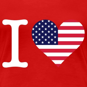 Rood I Love USA Original (3c) T-shirts - Vrouwen Premium T-shirt