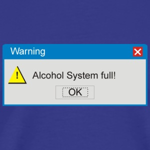 Sky warning_alcohol_full T-Shirts - Männer Premium T-Shirt