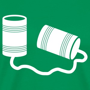 phone cans - Men's Premium T-Shirt