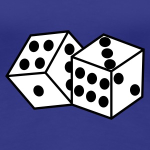 Royal blue Dice Women's T-Shirts - Premium T-skjorte for kvinner
