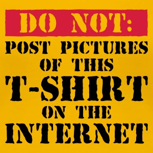 Do Not Internet! - Women's Premium T-Shirt