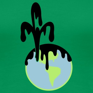 Grass green deep blue: Ölverschmutzung /  oil pollution (3c) Women's T-Shirts - Women's Premium T-Shirt