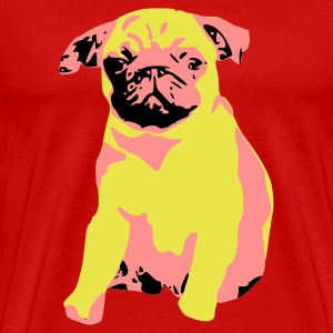 Pug Dog Puppy T-Shirt Retro Pup - Men's Premium T-Shirt