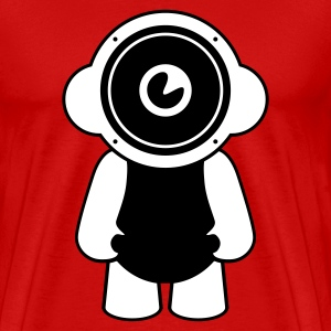 Red speakerdoll minimal music Men's T-Shirts - Men's Premium T-Shirt