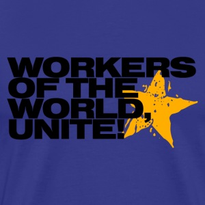 Workers of the world, unite! (sky) - Men's Premium T-Shirt