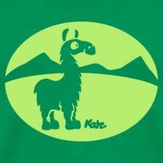 Kelly green Lama Atacama (inv) Men's T-Shirts