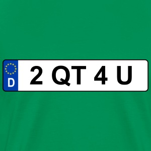 Registration D – 2 QT 4 U - Men's Premium T-Shirt