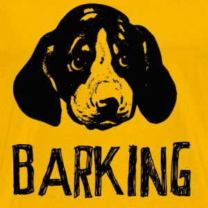 Yellow Barking Men's T-Shirts - Men's Premium T-Shirt