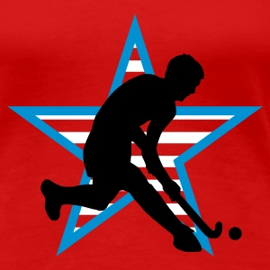 Rot herrenhockey_b_3c_usa T-Shirts - Frauen Premium T-Shirt