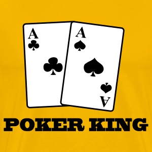 Gul aces spades and clubs - poker king T-shirts - Premium-T-shirt herr