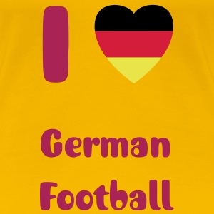 I Love German Football - Frauen Premium T-Shirt