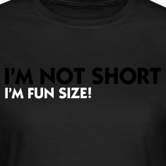 Olijfgroen I'm not short - I'm fun size (2c) T-shirts