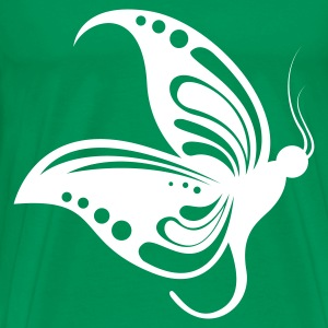Kelly green butterfly1 1 color Men's T-Shirts - Koszulka męska Premium