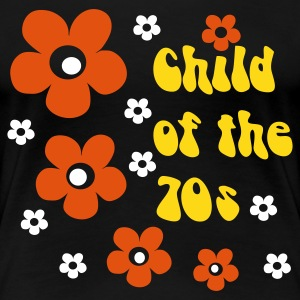 Zwart Child of the 70s T-shirts - Vrouwen Premium T-shirt