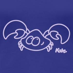 Royal blue Crab Women's T-Shirts - Women's Premium T-Shirt