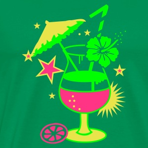 Kelly green cocktail_hawaii Men's T-Shirts - Men's Premium T-Shirt