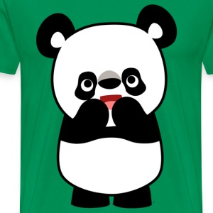 Hi! Hi! Mignon Cartoon Panda par Cheerful Madness!! Tee shirts - T-shirt Premium Homme