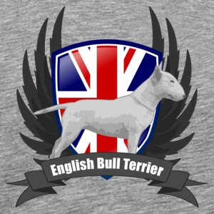 Ash Bullterrier white Union Jack wings Men's T-Shirts - Men's Premium T-Shirt
