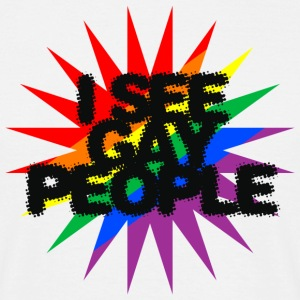 I see gay people (beige) - Men's T-Shirt