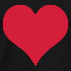 Svart Heart T-shirts - Premium T-skjorte for menn
