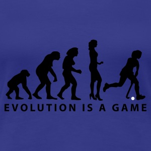 Türkis evolution_hockey_woman_b_2c T-Shirts - Frauen Premium T-Shirt
