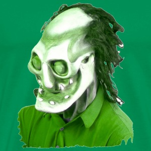 Kelly green Halloween Scary Head 5 Men's T-Shirts - Men's Premium T-Shirt
