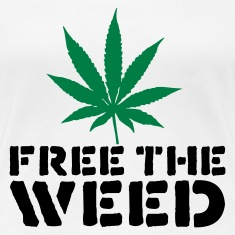 White Free The Weed Women's T-Shirts